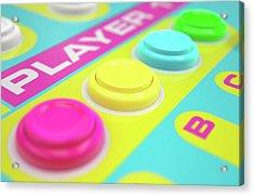 Luminous Arcade Control Panel  Acrylic Print