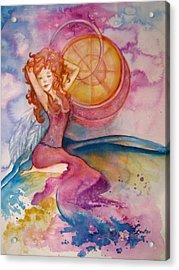 Luna Acrylic Print by L Lauter