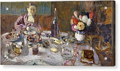 Luncheon Acrylic Print by Edouard Vuillard