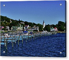 Mackinac By The Docks Acrylic Print