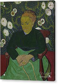 Madame Roulin Rocking The Cradle Acrylic Print by Vincent Van Gogh
