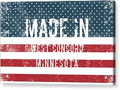 Made In West Concord, Minnesota Acrylic Print