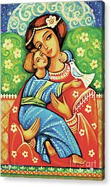 Acrylic Print featuring the painting Madonna And Child by Eva Campbell