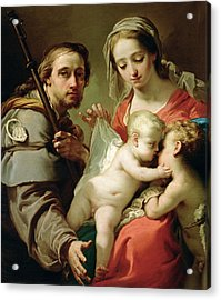 Madonna And Child Acrylic Print by Gaetano Gandolfi