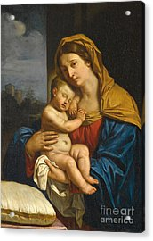 Madonna And Child Acrylic Print by Guercino