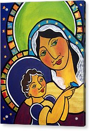 Acrylic Print featuring the painting Madonna And Child by Jan Oliver-Schultz