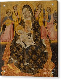 Madonna And Child With Angels Acrylic Print