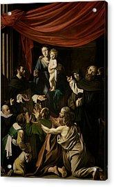 Madonna Of The Rosary  Acrylic Print