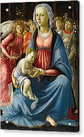 Madonna With Child And Five Angels Acrylic Print by Sandro Botticelli