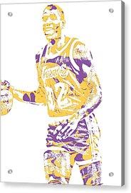 Magic Johnson Los Angeles Lakers Pixel Art 5 Acrylic Print