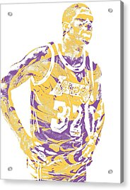Magic Johnson Los Angeles Lakers Pixel Art 6 Acrylic Print