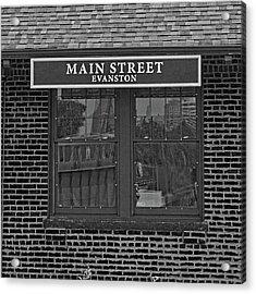 Main Street Station Acrylic Print by Michael Flood