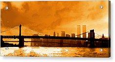 Majestic Skyline Acrylic Print by Ron Regalado