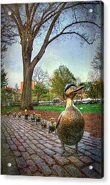 Make Way For Ducklings - Boston Acrylic Print by Joann Vitali