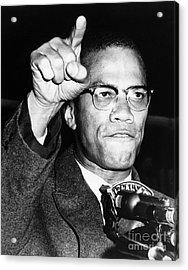 Malcolm X (1925-1965) Acrylic Print