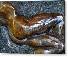 Male Dancer In Repose Acrylic Print by Dan Earle