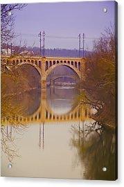 Manayunk Bridge Acrylic Print by Bill Cannon