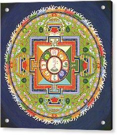 Mandala Of Avalokiteshvara           Acrylic Print by Carmen Mensink