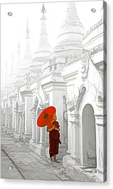 Mandalay Monk Acrylic Print by Dennis Cox WorldViews