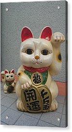 A Figure Of A Beckoning Cat, Called 'manekineko' Acrylic Print