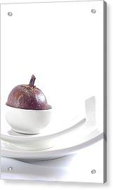 Mangosteen Acrylic Print by Evia Nugrahani Koos
