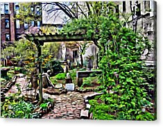 Acrylic Print featuring the photograph Manhattan Community Garden by Joan Reese