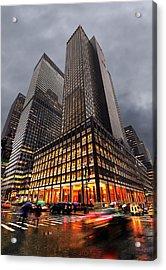 Manhattan Acrylic Print by Svetlana Sewell