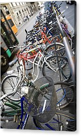 Many Bikes Acrylic Print by Marilyn Hunt