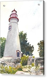 Marblehead Lighthouse Acrylic Print by Terri  Meyer