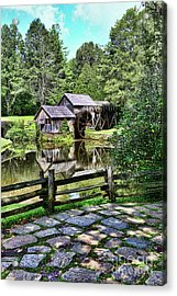 Marby Mill Pathway Acrylic Print by Paul Ward