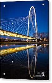 Margaret Hunt Hill Bridge Acrylic Print by Inge Johnsson