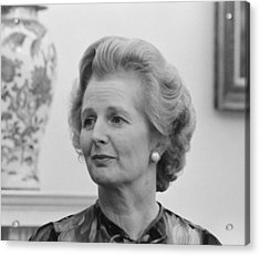 Margaret Thatcher Acrylic Print by War Is Hell Store
