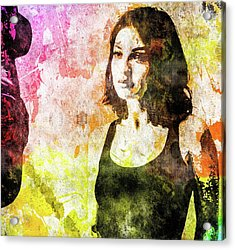Acrylic Print featuring the mixed media Maria Valverde by Svelby Art