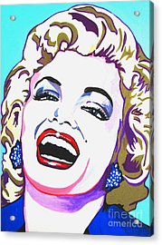 Marilyn Acrylic Print by Colleen Kammerer