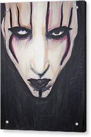 Marilyn Manson Acrylic Print by Crystal  Rickman