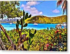 Marina Cay Acrylic Print by Carey Chen