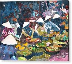 Acrylic Print featuring the painting Market Fresh by Yolanda Koh