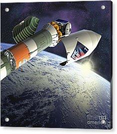 Mars Express Launch, Artwork Acrylic Print