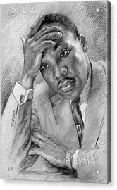 Martin Luther King Jr Acrylic Print by Ylli Haruni