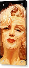 Acrylic Print featuring the painting Marylin Monroe 3 by James Shepherd