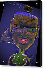 Mask 16 Acrylic Print by Noredin Morgan
