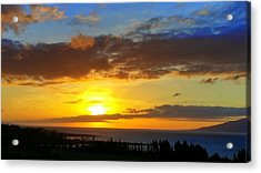 Maui Sunset At The Plantation House Acrylic Print