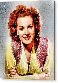 Maureen O'hara, Vintage Hollywood Actress Acrylic Print