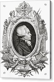 Maximilien Robespierre, 1758-1794 Acrylic Print by Vintage Design Pics