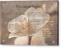 Maya Angelou - Phenomenal Woman  Acrylic Print