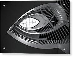 Mca Staircase Acrylic Print by Sheryl Thomas
