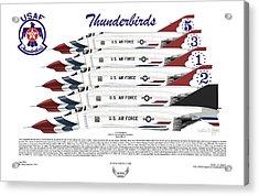 Mcdonnell Douglas F-4e Phantom II Thunderbirds Acrylic Print by Arthur Eggers