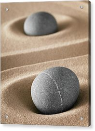 Acrylic Print featuring the photograph Meditation Stones by Dirk Ercken