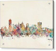 Memphis City Skyline Acrylic Print by Bri B