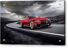 Mercedes A M G   G T Acrylic Print by Movie Poster Prints